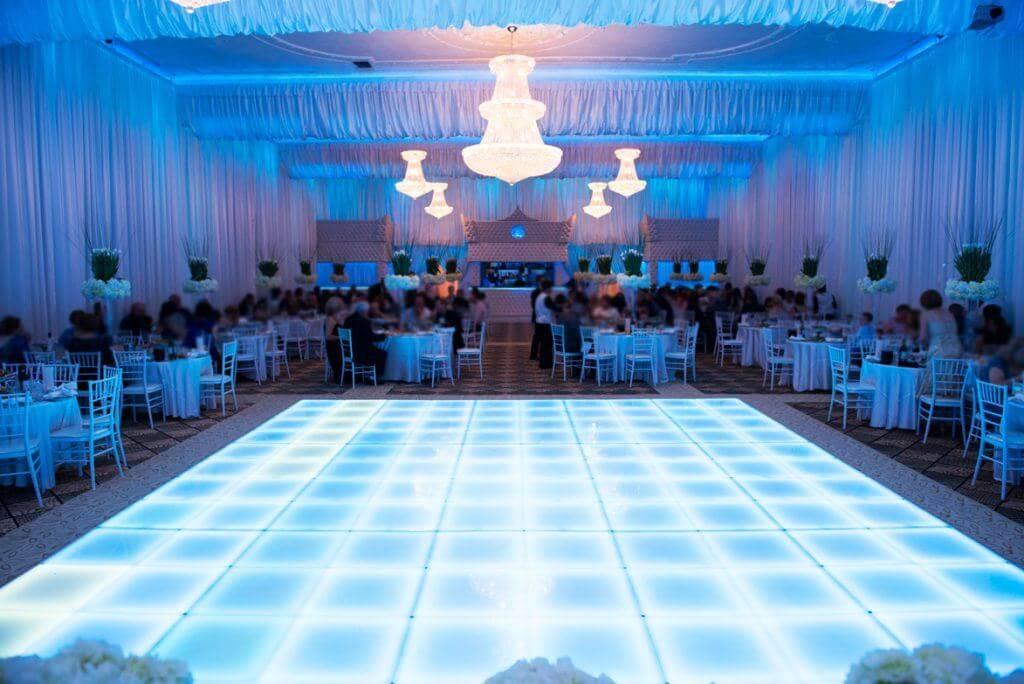 wedding hall and reception