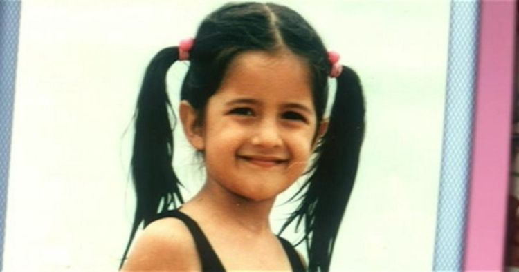 Original Childhood photos of actress Katrina Kaif