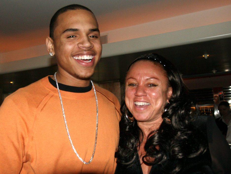 Chris Brown and mom Joyce Hawkins
