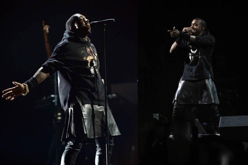 Kanye West leather kilt