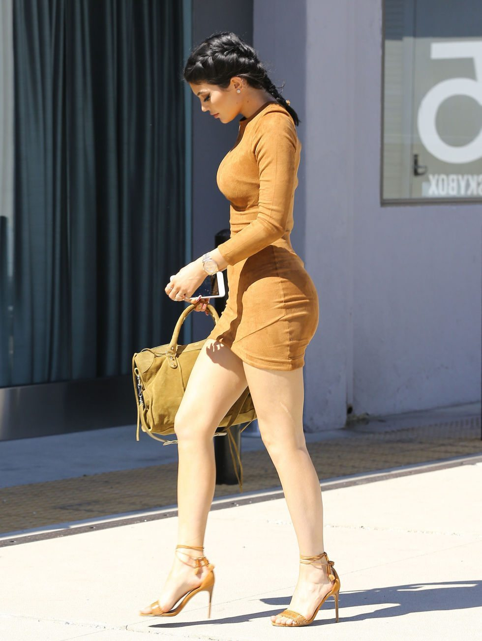 Kylie Jenner's outfit suede dress