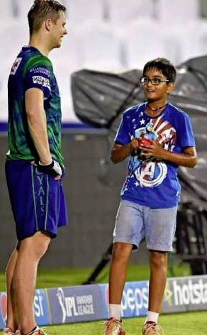samit dravid with steve smith