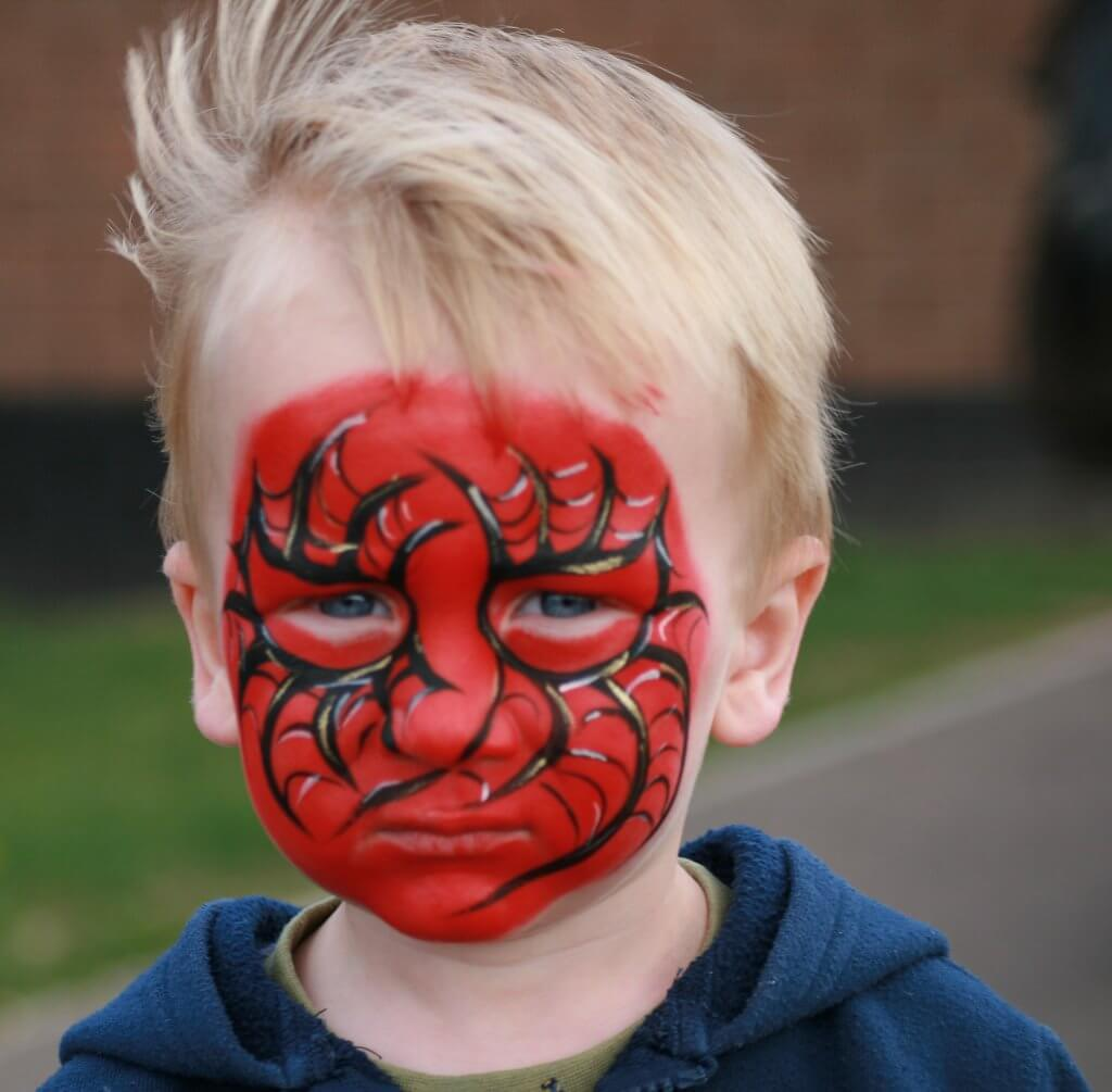 Face paint in a child