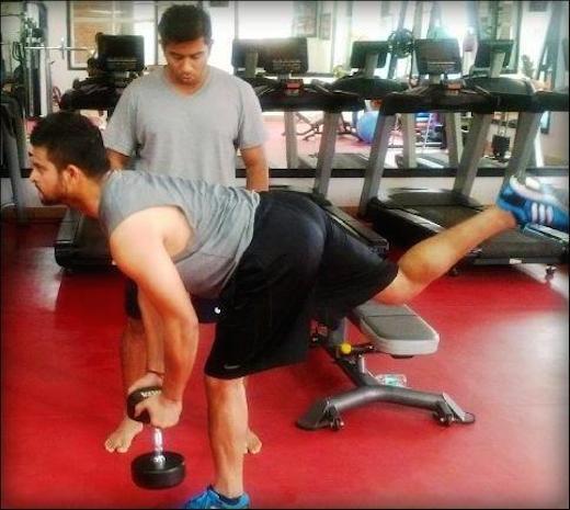Suresh-Raina-Gym-Workout